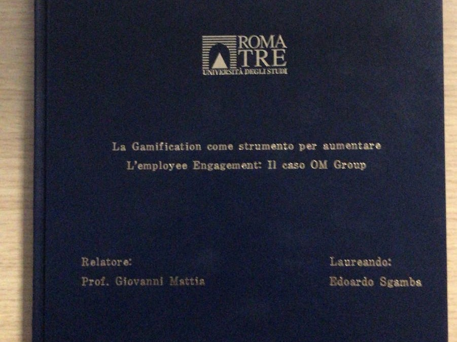 La gamification di OM Group, oggetto di tesi nella laurea in Economia e Management