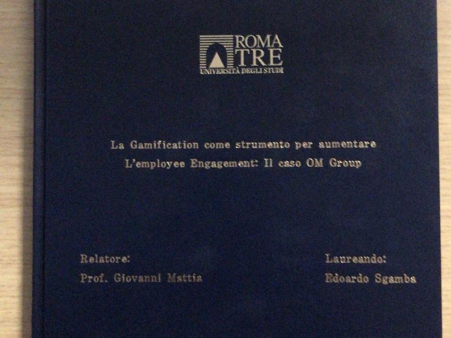 La gamification di OM Group, oggetto di tesi nella laurea in Economia e Management
